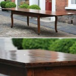 sold10 19c french fruitwood double extending table